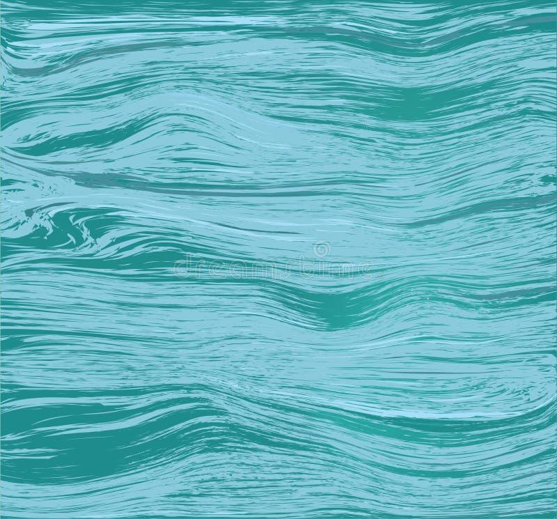 Superfície da água de fluxo Mar, lago, rio ilustração royalty free