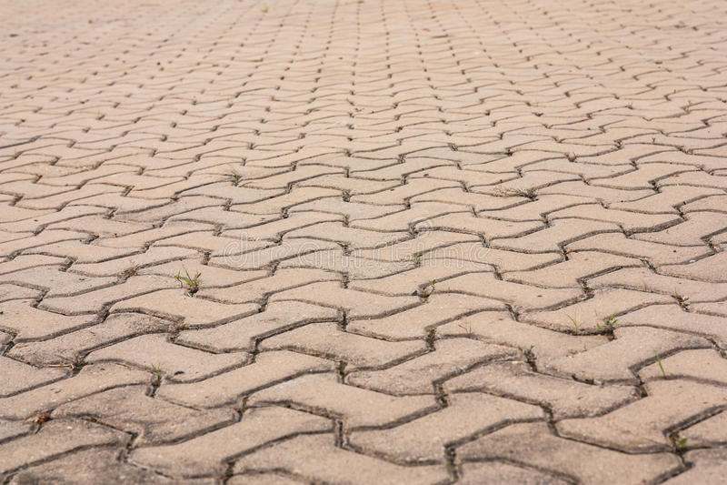 Superfície da estrada do tijolo foto de stock