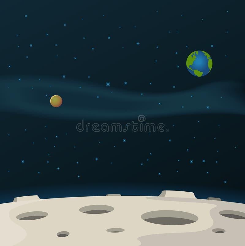 Superfície da lua ilustração royalty free