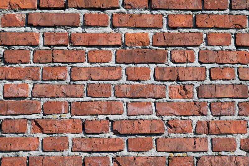 A superfície da parede de tijolo da construção de tijolo vermelho velha vai acima fotos de stock royalty free