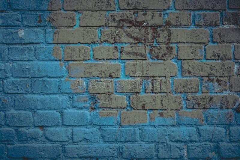 Superf?cie da parede de tijolo no tom dos azuis marinhos Fundo e textura arquitet?nicos abstratos para o projeto fotografia de stock royalty free
