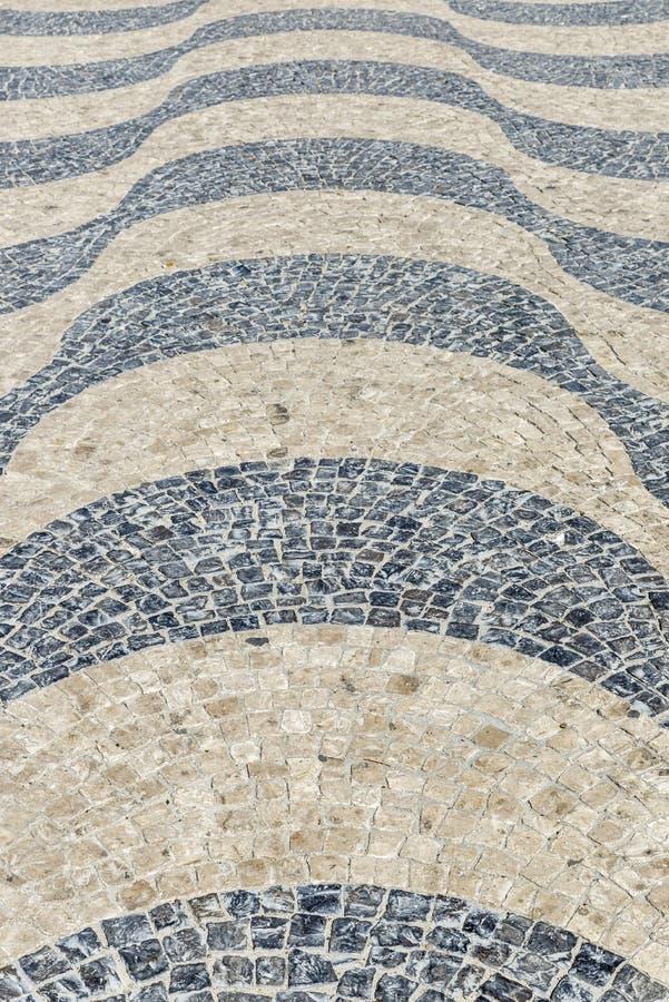Superfície da pedra em Lisboa, Portugal imagem de stock