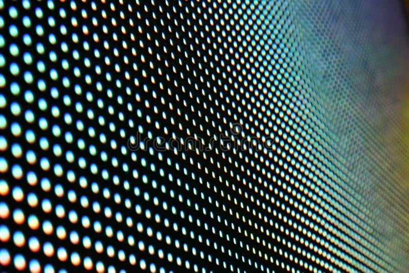 Superfície da tela do diodo emissor de luz imagem de stock