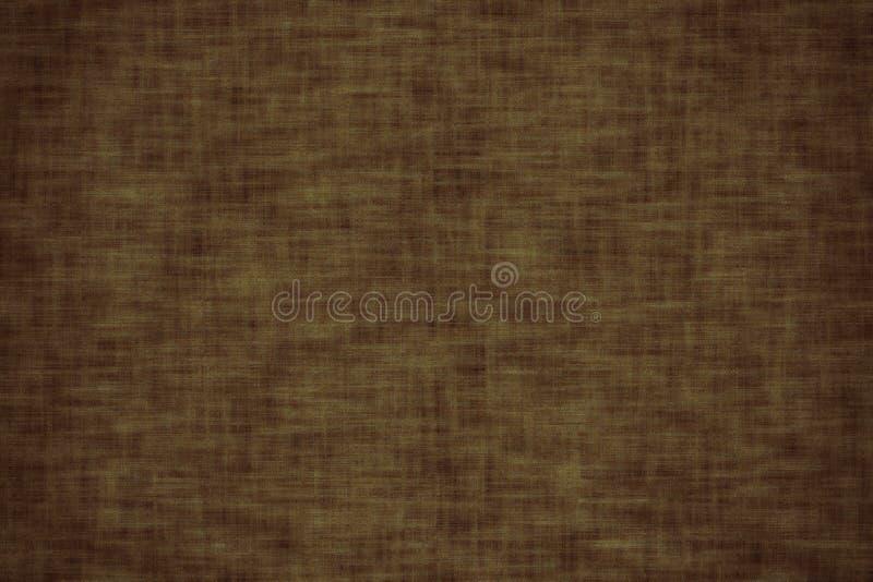 Superfície da tela para a capa do livro, elemento de linho do projeto, cor de Tawny Port do grunge da textura pintada ilustração stock