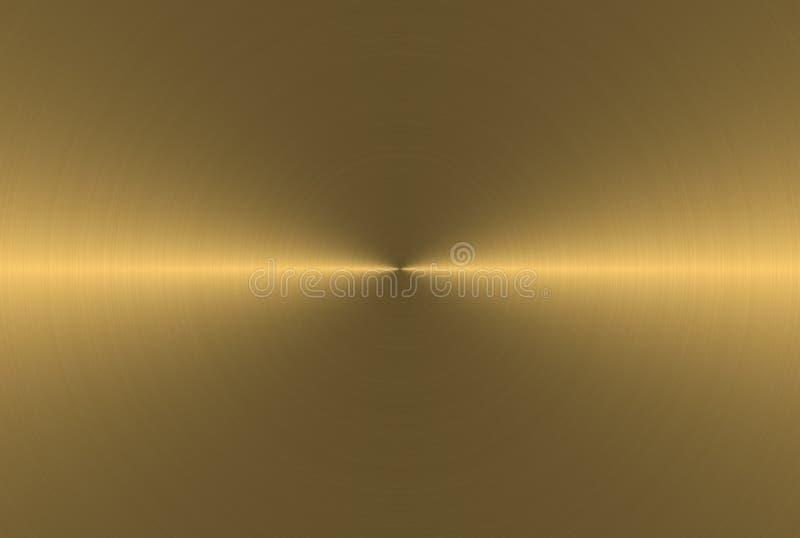Superfície de aço dourada ilustração royalty free