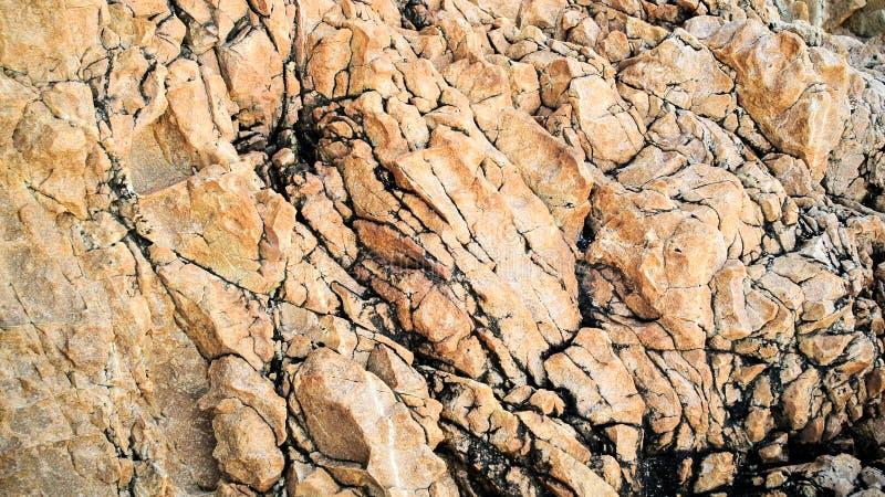Superfície de Brown da rocha foto de stock royalty free