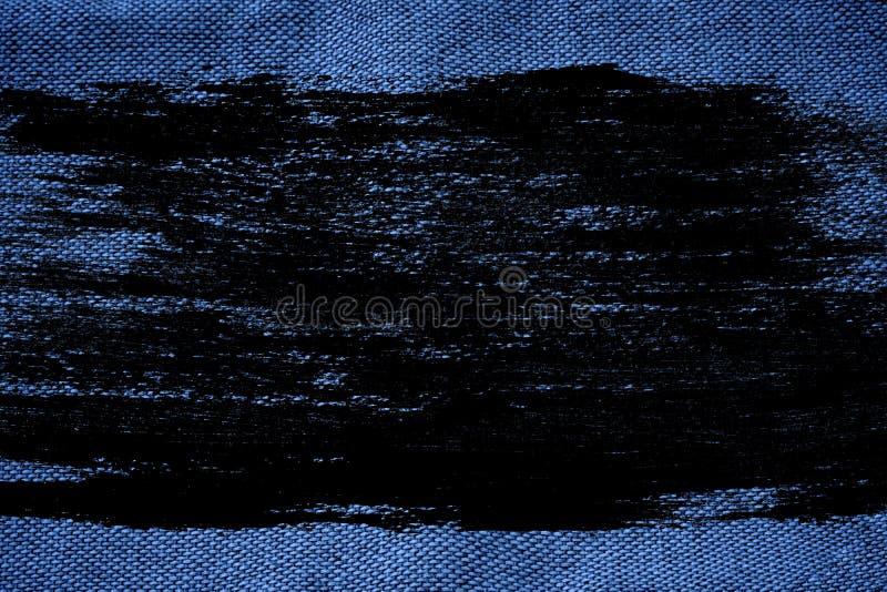 Superfície de linho ultra azul da tela do Grunge para o uso do modelo ou do desenhista, amostra de folha, amostra da capa do livr ilustração royalty free