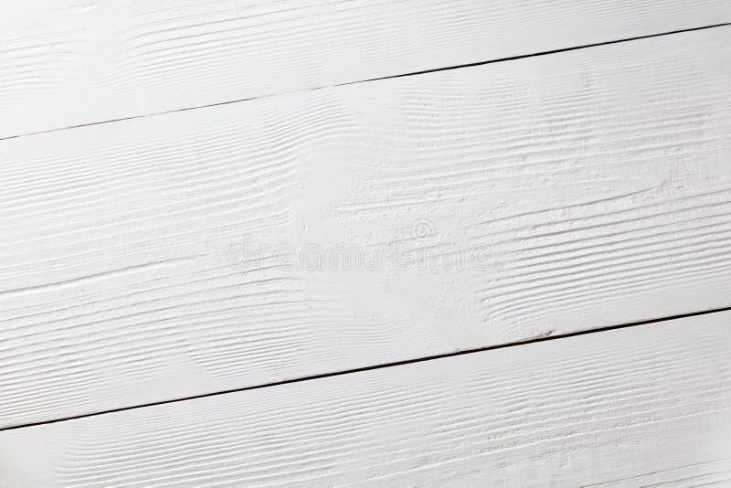 Superfície de madeira branca como um fundo de madeira Vista superior imagens de stock royalty free