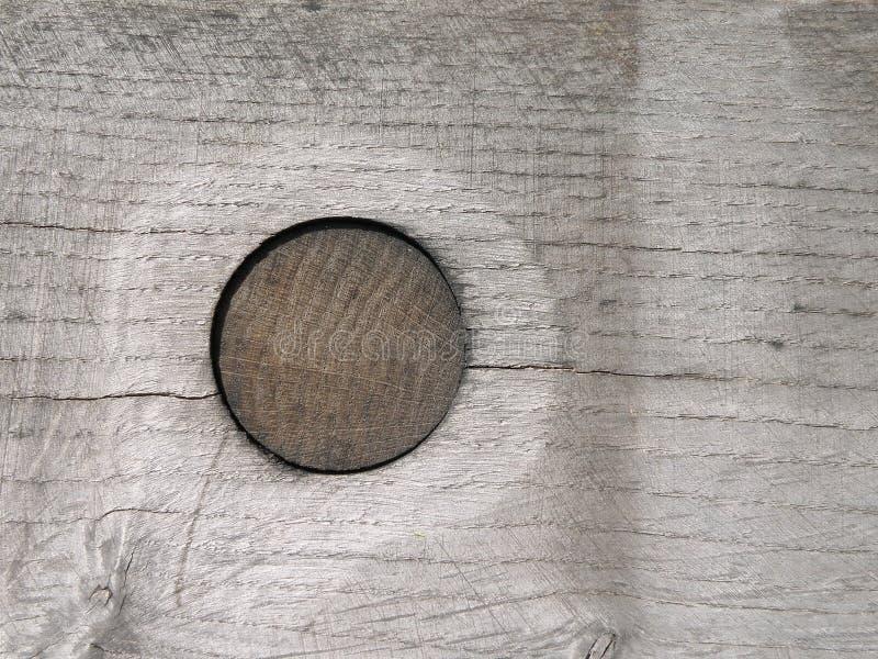 Superfície de madeira com prego fotos de stock