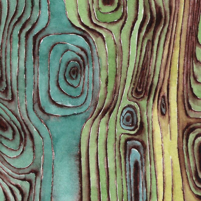 Superfície de madeira da aquarela ilustração do vetor