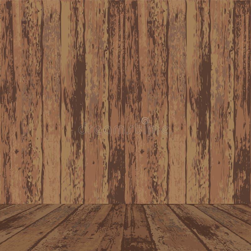 Superfície de madeira da textura ilustração do vetor