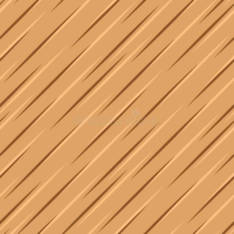 Superfície de madeira marrom do vetor ilustração royalty free