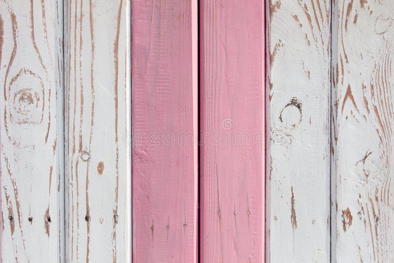 A superfície de madeira pintada em duas cores fotografia de stock royalty free