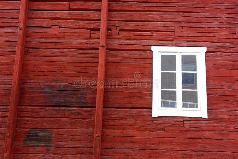 Superfície de madeira vermelha de Falu imagem de stock royalty free