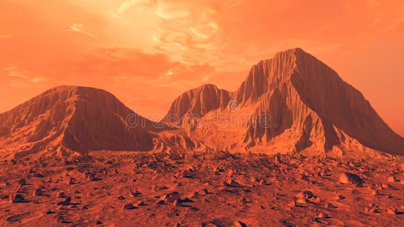 Superfície de Marte ilustração royalty free