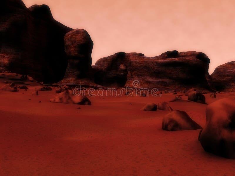 Superfície de Marte ilustração stock