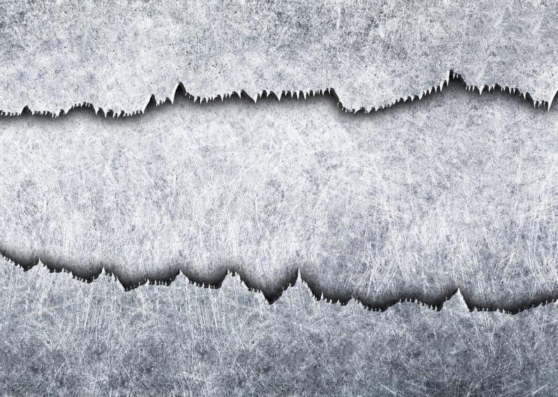 A superfície de metal com teste padrão de furo perfurou a folha do ferro, 3d, illustra ilustração royalty free