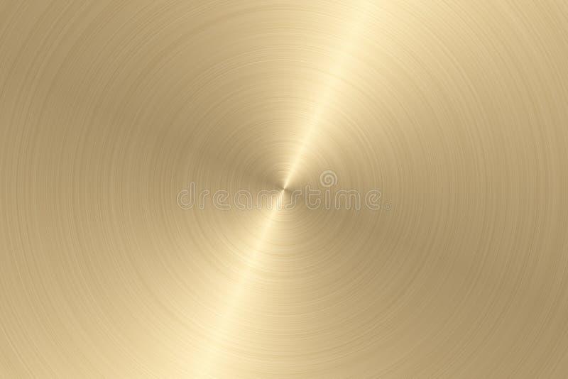 Superfície de metal escovada Textura do metal Fundo abstrato do ouro ilustração royalty free