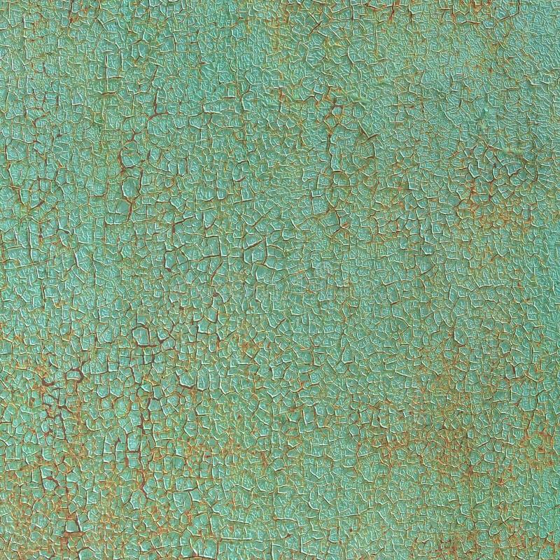 Superfície de metal velha pintada com pintura verde como o fundo foto de stock royalty free