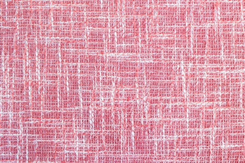 Superfície do close up no fundo textured da fronha de almofada vermelha fotografia de stock royalty free