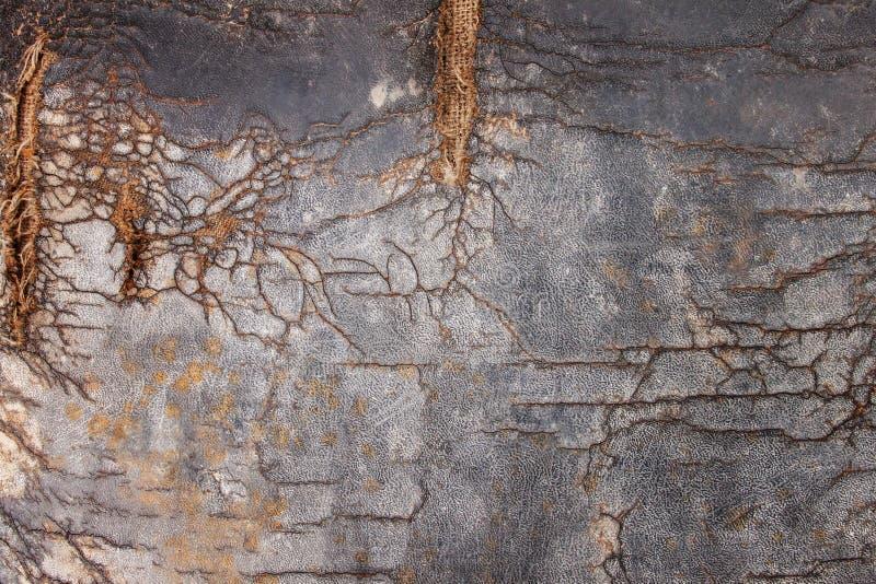 A superfície do coxim de couro velho imagens de stock royalty free