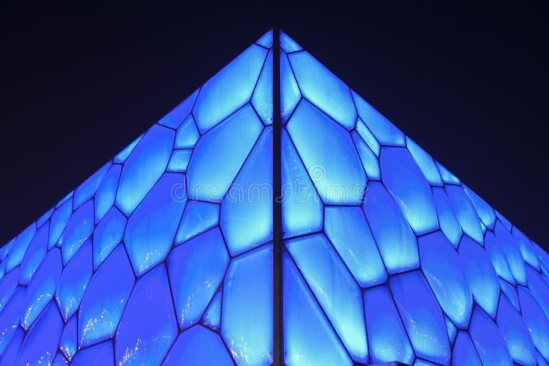 Superfície do cubo olímpico da água do Pequim, China imagem de stock royalty free
