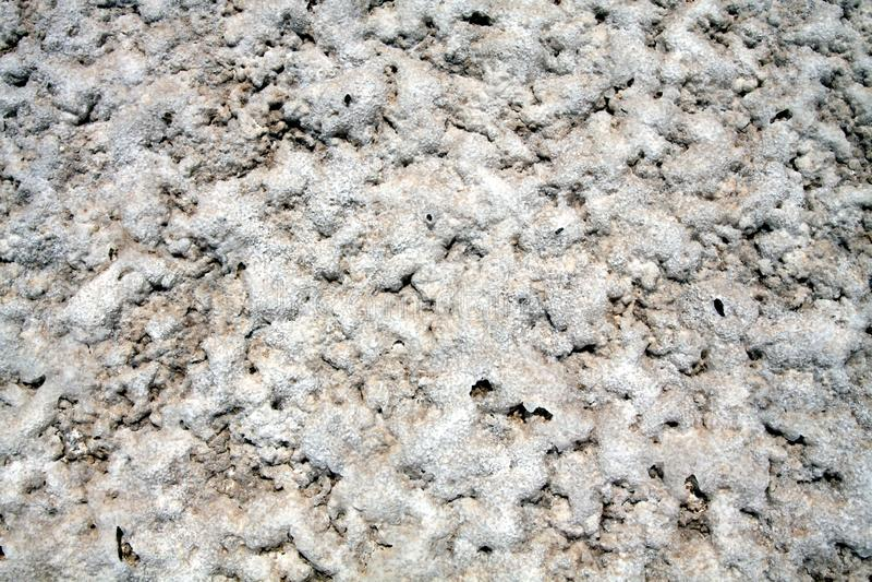 Superfície do deserto liso de sal perto de San Pedro de Atacama, o Chile imagens de stock