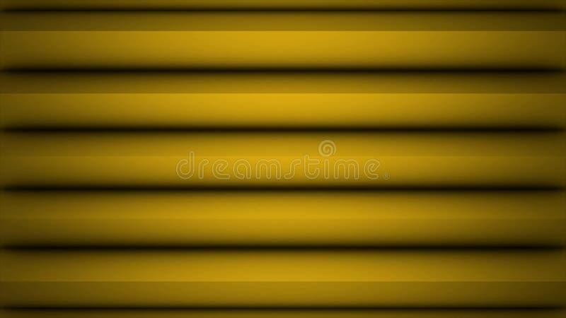 Superfície geométrica poligonal amarela Fundo sem emenda gerado por computador do movimento do sumário do laço para o espaço da c ilustração stock