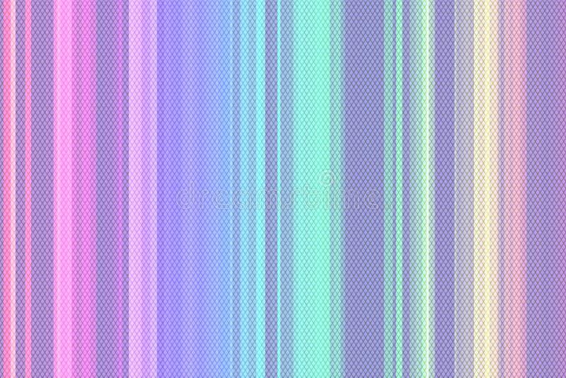 Superfície iridescente holográfica cor pastel enrugada da folha Fundo do holograma da textura abstrata da folha 80s com cores múl ilustração stock