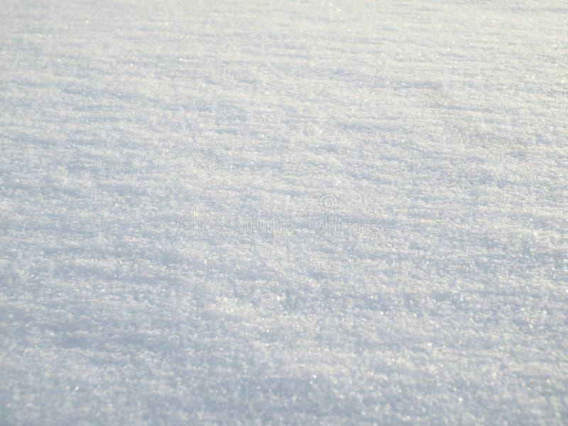 Superfície lisa da neve no inverno imagem de stock