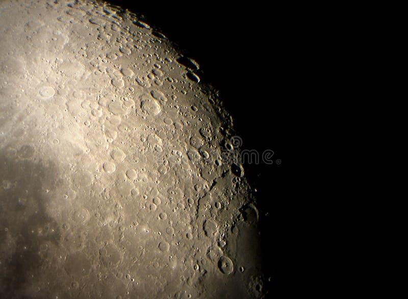 Superfície lunar imagem de stock