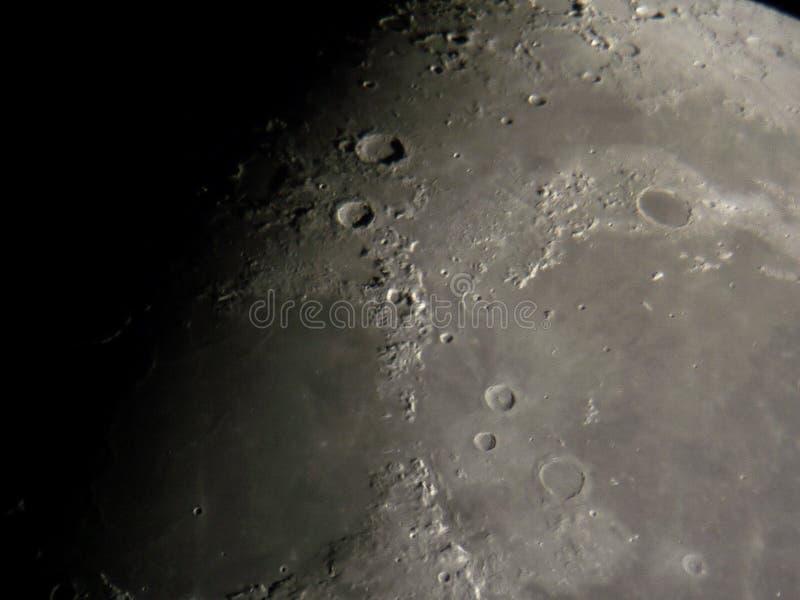 Superfície lunar fotografia de stock