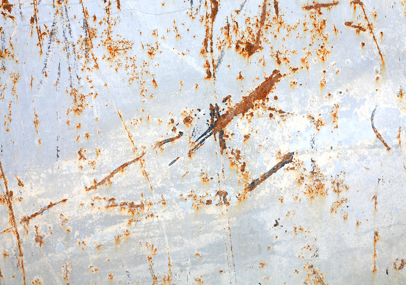 Superfície oxidada do metal fotos de stock