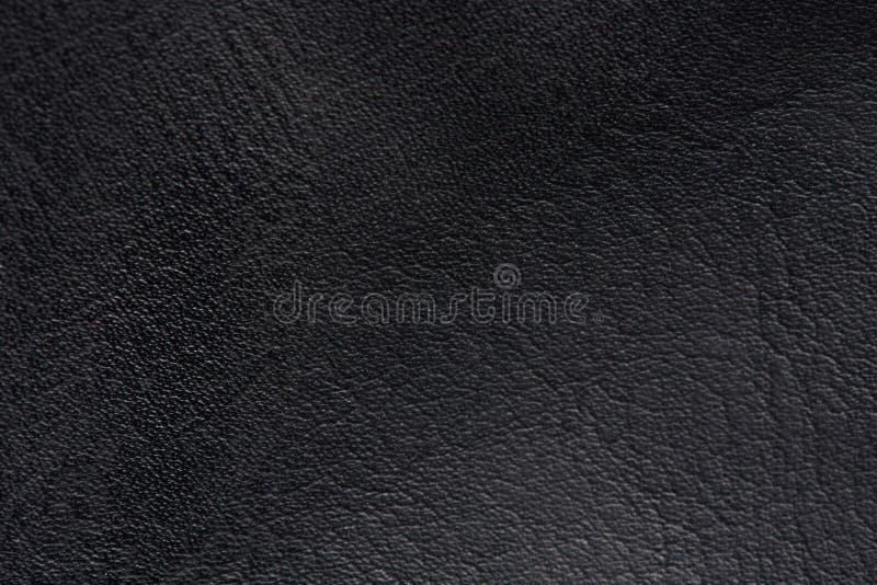 Superfície preta do couro imagens de stock royalty free
