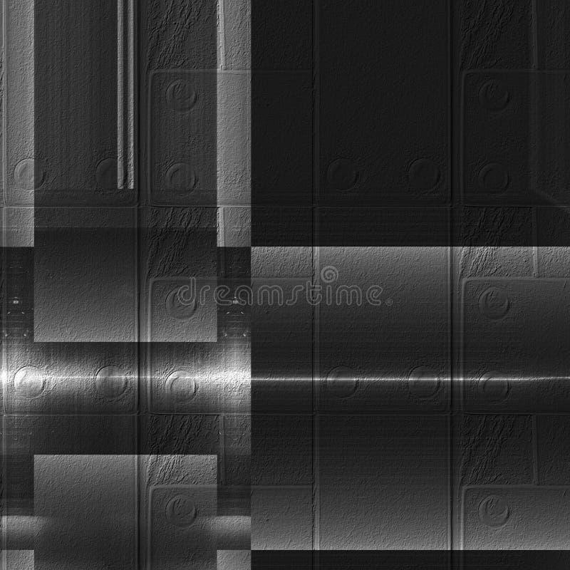 Superfície preto e branco do alumínio Fundo abstrato abstrato metálico da textura ilustração stock