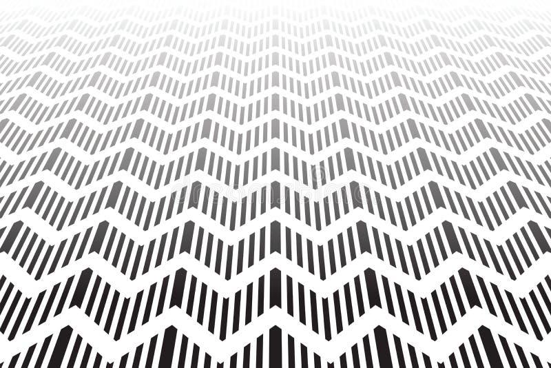 Superfície Textured do ziguezague. Fundo geométrico abstrato. ilustração do vetor