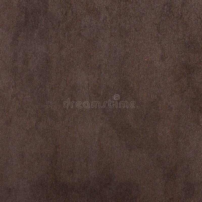 Superfície textured veludo, fundo abstrato marrom imagem de stock