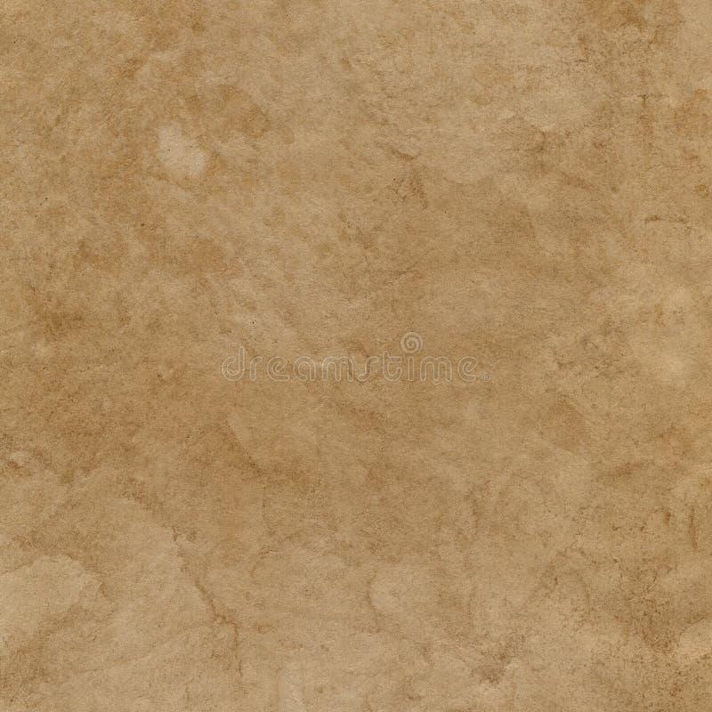 Superfície velha manchada vazia do papel marrom fundo ou textura foto de stock