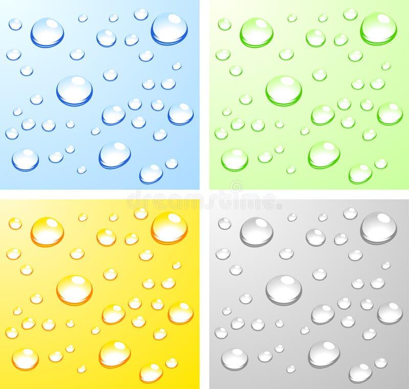 Superfícies molhadas. ilustração do vetor