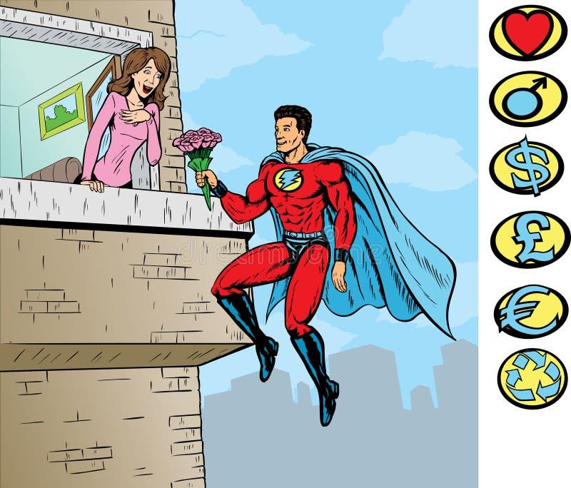 superförälskelse royaltyfri illustrationer