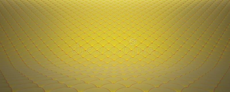 Superficie acolchada de la tela Terciopelo amarillo y terciopelo anaranjado Opci?n 2 stock de ilustración