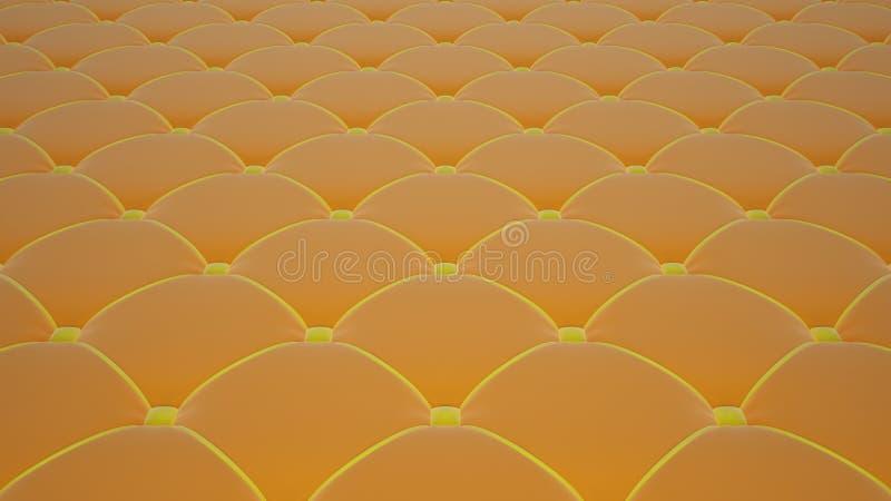 Superficie acolchada de la tela Terciopelo anaranjado y terciopelo amarillo Opción 1 libre illustration