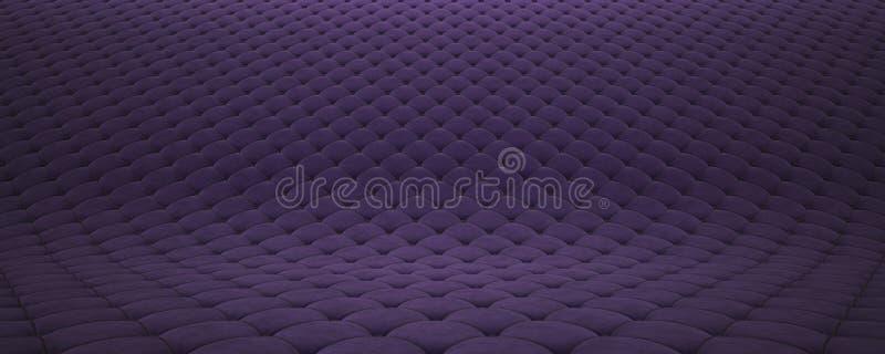 Superficie acolchada de la tela Terciopelo p?rpura y cuero negro Opci?n 2 stock de ilustración