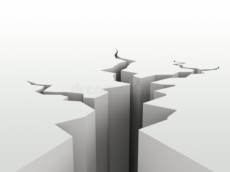 Superficie agrietada ilustración del vector