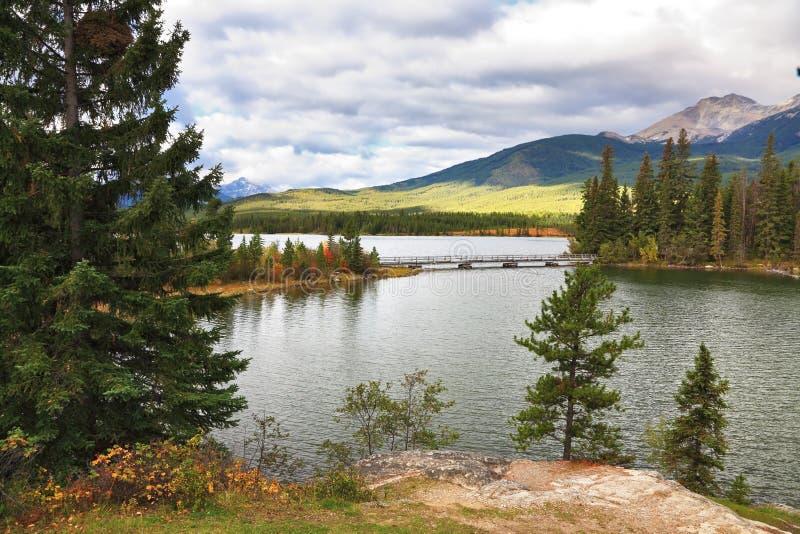 Superficie argentea brillante del lago fotografia stock