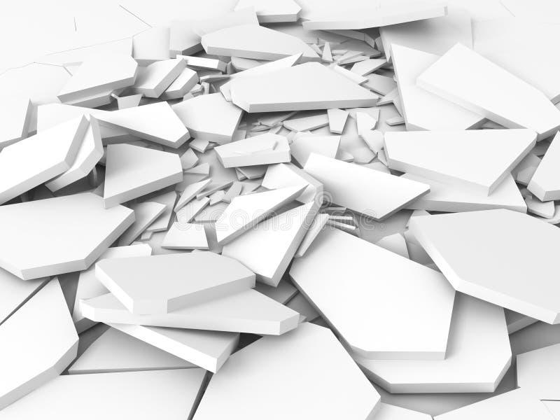 Superficie bianca incrinata di messa a terra di danno royalty illustrazione gratis