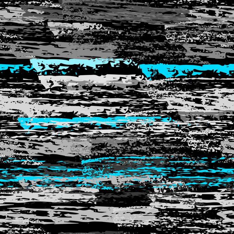 Superficie consumata del carbone del gesso di struttura pinstripe illustrazione vettoriale