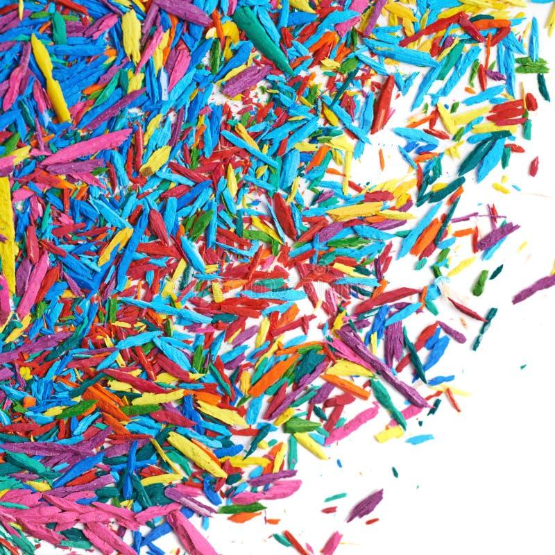 Superficie coperta di chip della grafite della matita fotografie stock