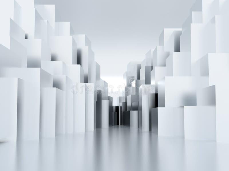 Superficie cubica del metallo illustrazione di stock