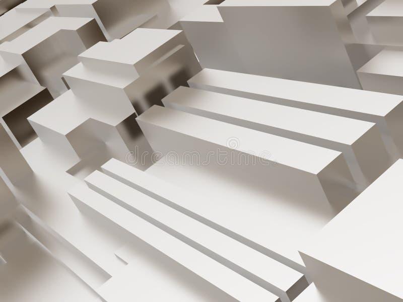 Superficie cubica metallica royalty illustrazione gratis